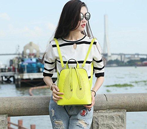 GQQ NUOVE borse a tracolla borse moda PU Dacron per Shopping Party e sul posto di lavoro fino a 7,5 L GQ borsa @ , lemon yellow