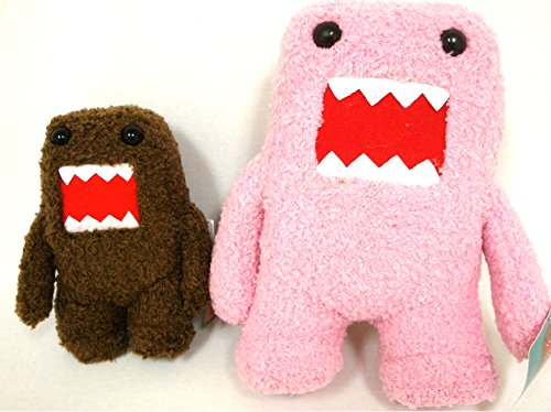 "Domo Brown 6"" and Pink 10"" Plush Doll - 1"