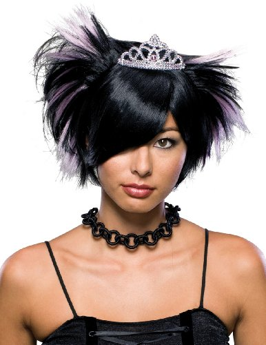 Rubies Costume Emo Princess Costume Wig with Tiara