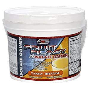 4Ever Fit  Isolate Gainer, Fruit Blast, Tangy Orange , 8-Pound Package