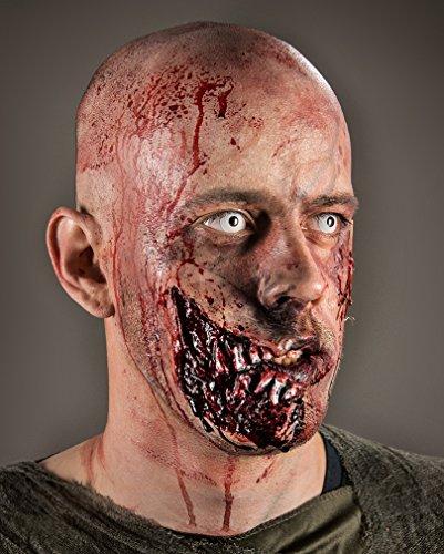 Zombie Kieferfrass Wunde