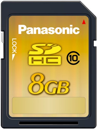Panasonic 8GB Class 10 SDHC Card (up to 22MB/s - Gold Line)