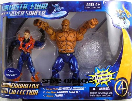 Picture of Hasbro Fantastic Four: Rise Of The Silver Surfer Commemorative Collection Human Torch Thing And Invisible Woman Action Figure 3-Pack (B000YN76E6) (Fantastic Four Action Figures)