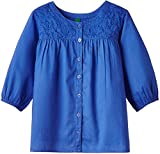 United Colors of Benetton Girls' Shirt (15P5KY35Q1O0G03H2Y_Light Steel Blue_2Y)