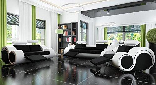 Designersofa-Sofagarnitur-Sofa-Couch-Polster-Garnitur-Ledersofa-321-BERLIN-mit-Relaxfunktion-Sofort-lieferbar