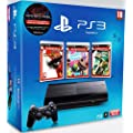 Console PS3 Ultra slim 12 Go noire + Uncharted : Drake's fortune - collection essentials + Little big planet - collection essentials + God of War 3 - collection essentials