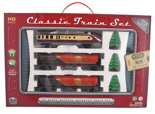 WowToyz Classic Train Set - Diesel Engine with Tankers