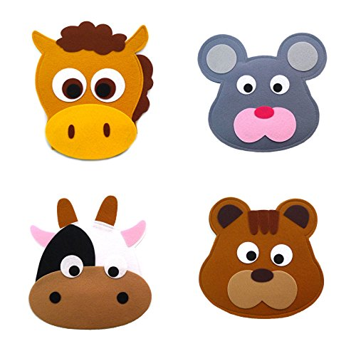 Animal Headband masks horse+mouse+cow+squirrel