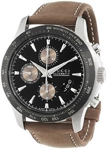 Gucci Men's YA126240 Gucci Timeless Black Diamond Pattern Dial Watch