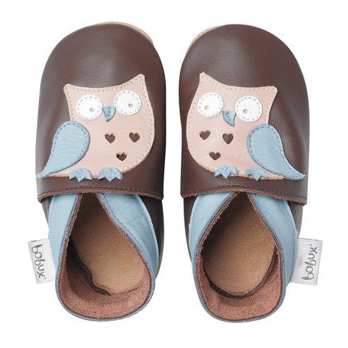 Bobux, Scarpine prima infanzia, design: Gufo, Marrone (Brun), Taglia M (9-15 mesi)