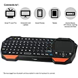 NEXspark Mira BT1 Bluetooth Mini Keyboard + Touchpad, Wireless with Comfort Grip + Rechargeable Battery, Compatible with TVs, PCs, Game Consoles, Tablets, Android Boxes, IPTV Players