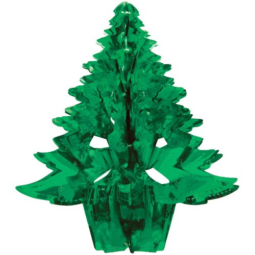 "Creative Converting Glitz Green Hanging Décor 16"" Dimensional Christmas Tree"