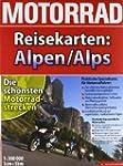 Motorrad-Reisekarte Alpen 1:300.000