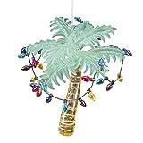 Glass Tropical Palm Tree Christmas Ornament