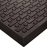 Wearwell Urethane 501 Rejuvenator Ultra Soft-Cell Anti-Fatigue Mat, for Dry Areas, Black