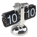 Gearmax® Retro Modern Scale Auto Flip Single Metal Stand Desk Table Clock