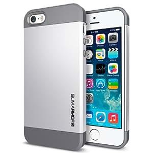 Spigen Slim Armor S Cover Case for iPhone 5/5S - Satin Silver