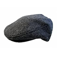John Hanly & Co. Irish Tweed Flat Cap - Grey Herringbone - Made in Ireland