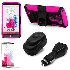 Sumaclife Pink Tough Armor Hybrid Case & Holster Combo