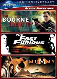 Action Adventure Spotlight Collection [The Bourne Identity, The Fast and the Furious, The Mummy] (Universal's 100th Anniversary)