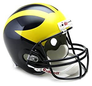NCAA Michigan Wolverines Deluxe Replica Football Helmet by Riddell