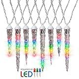 Gemmy LED Lightshow Shooting Star Icicle Lights Multi-Color Set Of 8