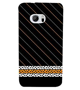Black Cheeta Design 3D Hard Polycarbonate Designer Back Case Cover for HTC One M10 :: HTC M10