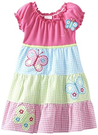 Youngland Girls 2-6X Knit To Woven Multi Color Sundress, Multi, 5