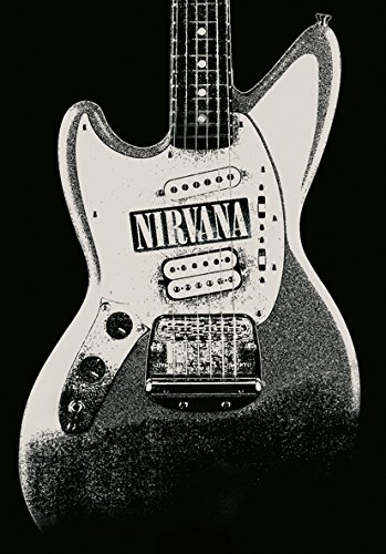Heart Rock Licensed Bandiera Nirvana - Jag Stang, Tessuto, Multicolore, 110X75X0,1 cm