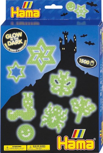 Hama / Glow in the Dark Fuse Beads Gift Set