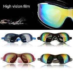 Anti-fog Uvioresistant Swimming Goggles Adjustable UV Glass + Silicone Ear Plugs