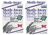 Two Packs - Safe HERBAL Moth AWAY repellent NON toxic NATURAL repellent two pack of 48