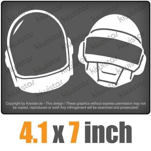 Daft Punk 4.1 x 7 inch JDM Decal Sticker Aufkleber Racing DUB Die Cut (Daft Punk Decal compare prices)