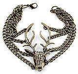 Shining Diva Dear Head Bracelets For Girls