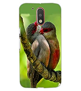 ColourCraft Love Birds Design Back Case Cover for MOTOROLA MOTO G4 PLUS