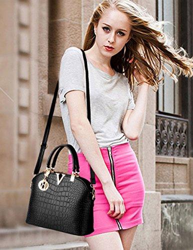 Greeniris Women Handbags PU Leather Shoulder Bags Ladies ...