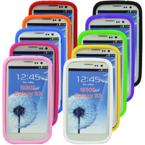 The Friendly Swede (Tm) Bundle Of 10 Soft Silicone Cases For Samsung Galaxy S3 + Screen Protector + Cleaning Cloth And Retail Packaging