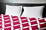 Ebydesign Geometric Duvet Cover, Queen, Lipstick