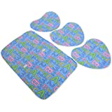 Kuber Industries™ Baby Waterproof Sheets Plastic & Cotton Foam Cushioned Sleeping Mat With 3 Changing Mat (Sky...