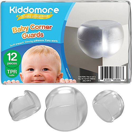 12 Pack Corner Guards - Strong Child Proof Protection Bumpers - Comes with My Baby Safety Tips Ebook - Best for Sharp Corners in Your Home (Baby Protection Helmet compare prices)