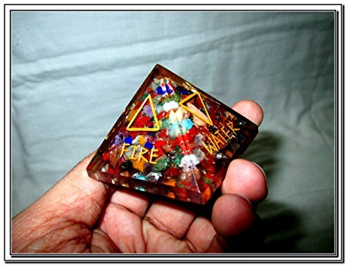 Jet 5 Elements Engraved Orgone Chakra Pyramid X-mas Crystal Gemstones Sacred Spiritual (Protect The Sacred compare prices)