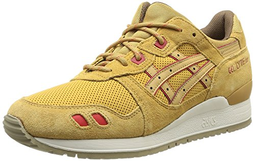 Asics Gel-Lyte III, Scarpe sportive, Unisex - adulto, Marrone (7171-Honey Mustard), 41.5