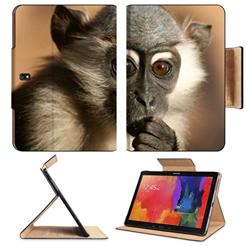 Baby Monkey Baboons Wildlife Animal Samsung Note Pro 12.2 Flip Case Stand Smart Magnetic Cover Open Ports Customized Made To Order Support Ready Premium Deluxe Pu Leather Luxlady Professional Graphic Background Covers Designed Model Folio Sleeve Hd Templa front-1012141