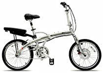 Prodeco V3 Mariner Folding Electric Bicycle, Brushed Aluminum with Satin Clear, 20-Inch/One Size