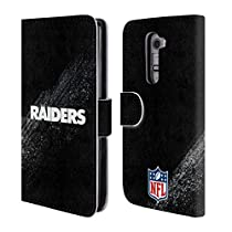 Official NFL Blur Oakland Raiders Logo Leather Book Wallet Case Cover For LG G2 / D800 / D802 / D801