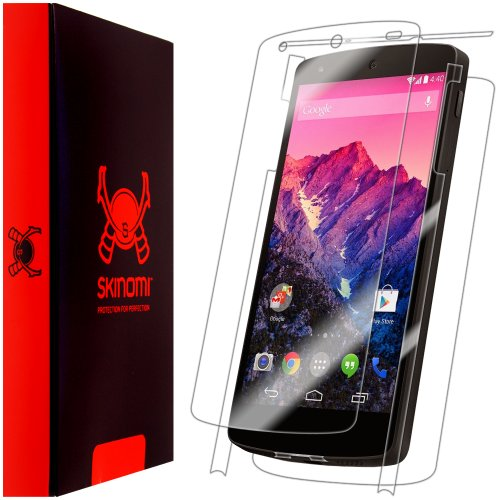 Skinomi® Techskin - Google Nexus 5 Screen Protector + Full Body Skin Protector With Lifetime Replacement Warranty / Front & Back Premium Hd Clear Film / Ultra High Definition Invisible And Anti-Bubble Crystal Shield - Retail Packaging
