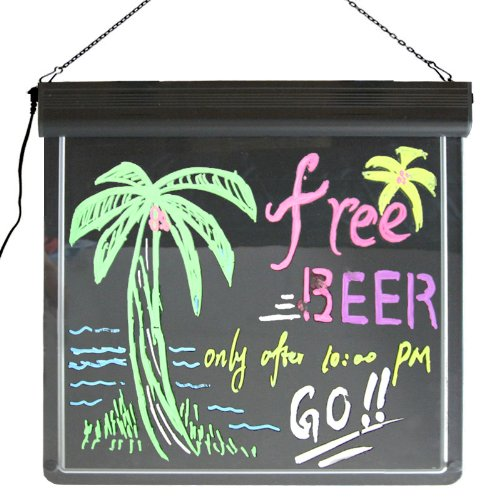Led Lighted Erasable Marker Board, Sign & Display For News, Messages, Menus, & Specials