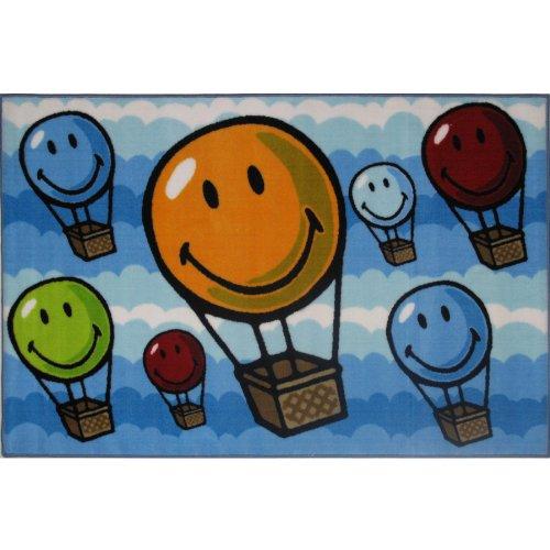 Smiley Face Hot Air Balloon Area Rug 39