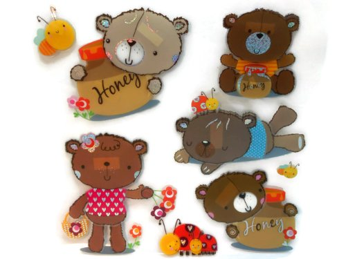 "ROOM DECOR for KIDS ""HAPPY TEDDY BEARS"" - 1"