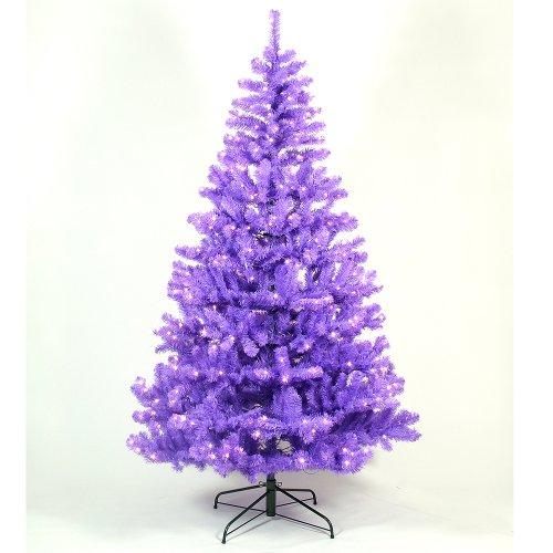 christmas tree purple pine from festive lights 7ft christmas tree